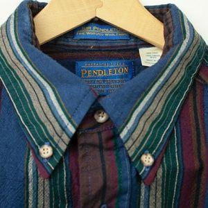 Pendleton Vertical Striped Wool Butrom Down XL